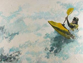 Fine art painting by Hanzer titled Roaring Run.