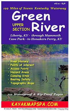 Kayak Green River Kentucky Map Book
