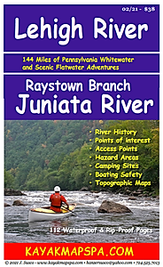 paddling map for Lehigh River Pennsylvania