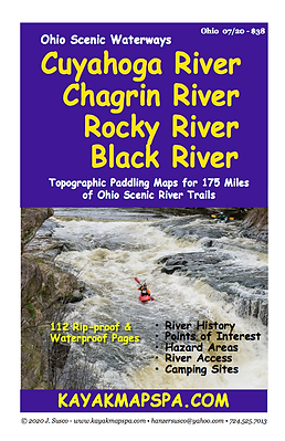 Kayak Rocky River, Black River, Chagrin River Ohio