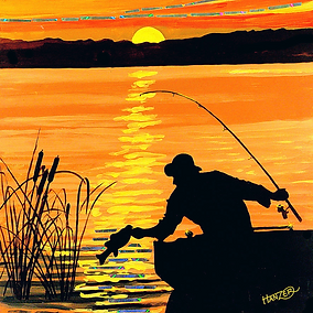 A fin art painting by Hanzer titled Bassin.