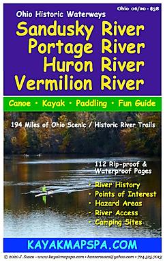 Kayak canoe Portage River, Huron River, Vermillion River Ohio