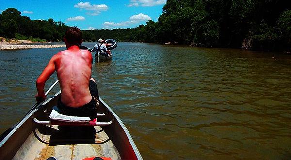 Sunburn in a canoe