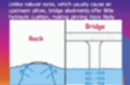 Bridge and rock abutments