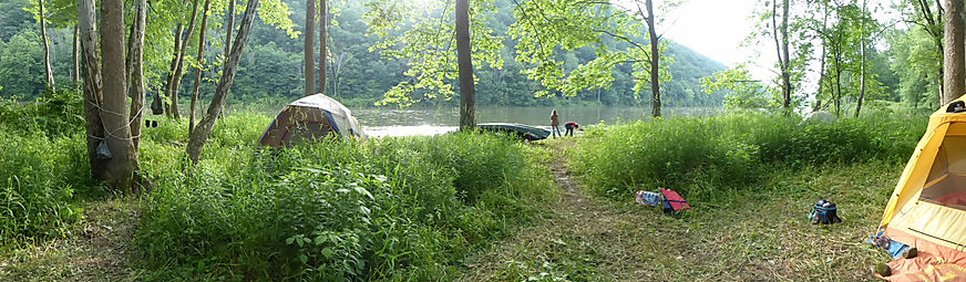 Primitive Camping on the allegheny river pennsylvania