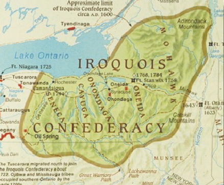 Iriquois Nation territory map
