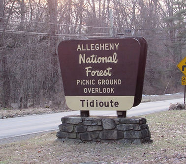 Sign Allegheny National Forest