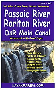 paddling maps -  Passaic River, Raritan River New Jersey