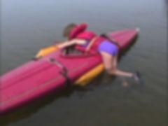 PAddler fell out of kayak