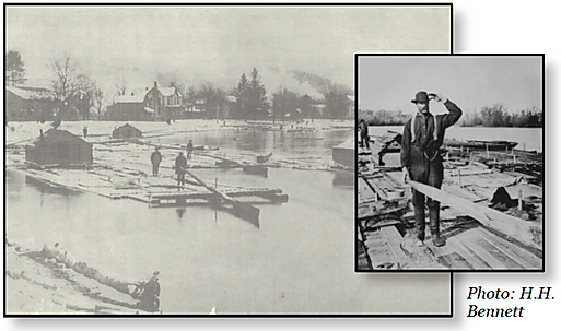 logging history susquehanna river