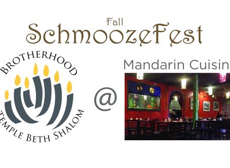 Fall Schmoozefest at Mandarin Cuisine