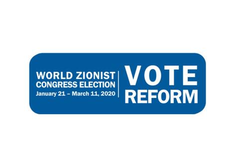 World Zionist Congress Elections-Vote Reform