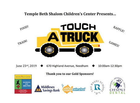 Temple Beth Shalom Children's Center presents Touch A Truck!