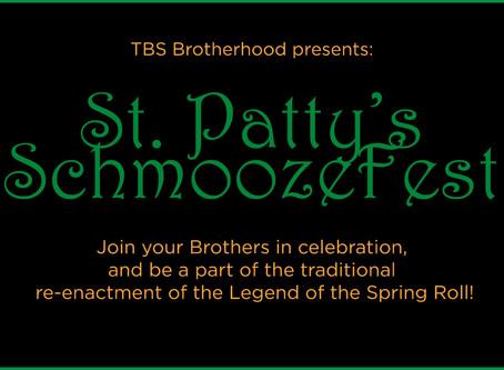 St. Patty's Day Schmoozefest Reminder