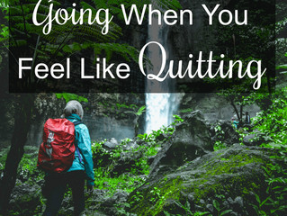 3 Reasons to Keep Going When You Feel Like Quitting