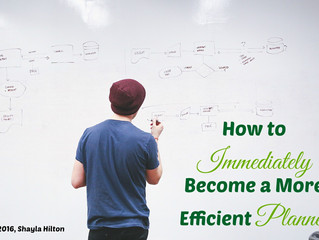 How to Immediately Become a More Efficient Planner