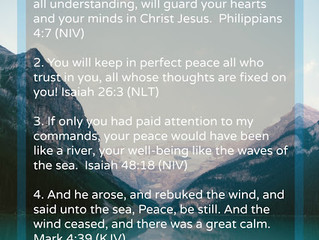 Five Scriptures to Release the Peace of God in Your Life {Shareable}