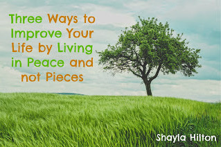 Three Ways to Improve Your Life by Living in Peace and not Pieces