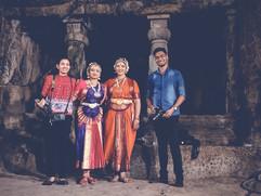 Aarti Balasubramanian Bharatnrityam Dancers with Priyanka Banerjee and Ashwin Mahajan