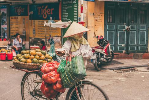 Hanoi Market in Vietnam