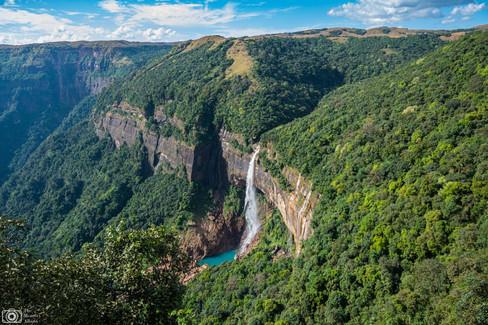 Nohkalikai Falls in Cherrapunji Meghalaya