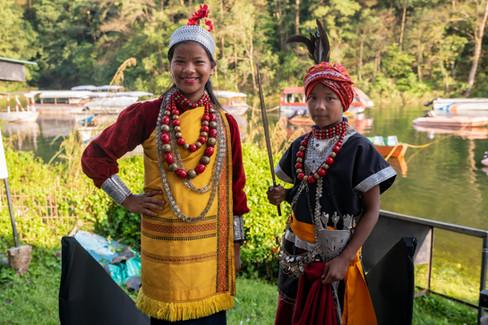 Kids in traditional dress in Meghalaya