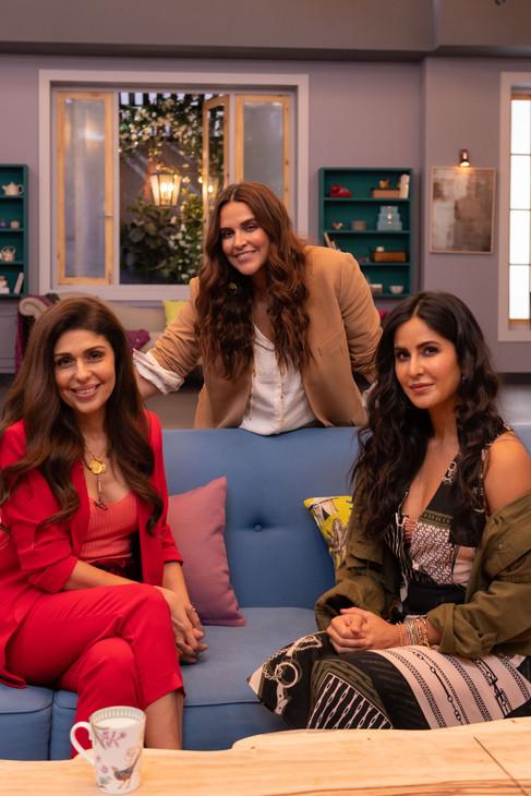 BFFs with Vogue - Anaita Shrof & Katrina Kaif with Neha Dhupia