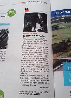 Drom Blanchard - Presse Gazette Montpellier