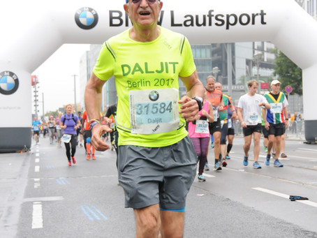 Running a Marathon at 70 years young
