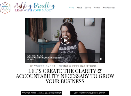 Ashley Bradley - Website Redo