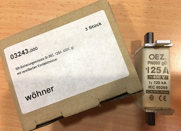 Wohner 03243 NH FUSE 125 A