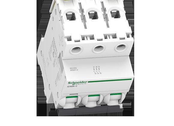 Schneider Acti9 MCB IC60N - miniature circuit breaker - 3P  - C curve
