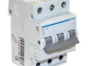 Hager MCB 3pole 4.5kA