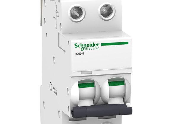 Schneider Acti9 MCB IC60N - miniature circuit breaker - 2P  - C curve