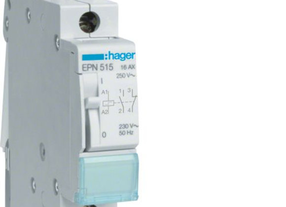 Hager EPN515 Latching relay 1NC+1NO 230V