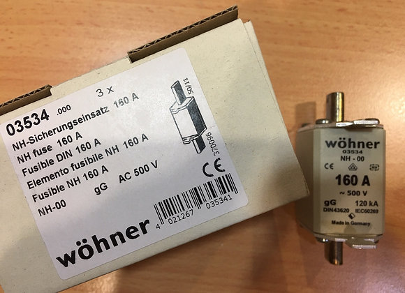 Wohner 03534 NH FUSE 160 A
