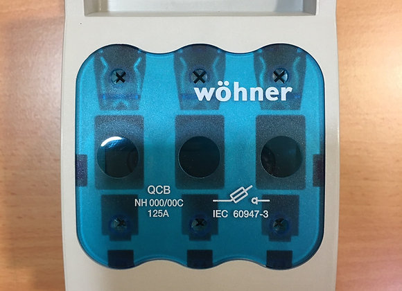 Wohner 33216 NH FUSE SWITCH-DISCONNECTOR SIZE 000, 125 A, BUSBAR MOUNTED, CONNEC