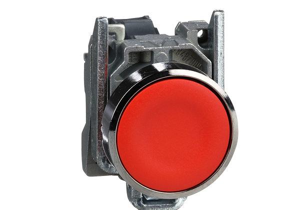 Schneider XB4BA42 Red Metal Pushbutton