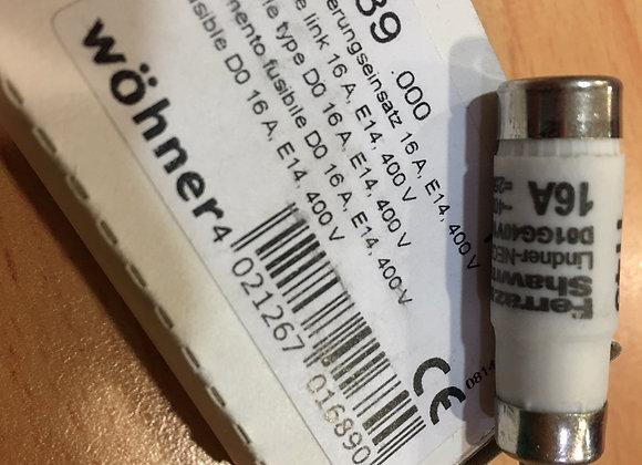 Wohner 01689 D01 FUSE LINK 16 A