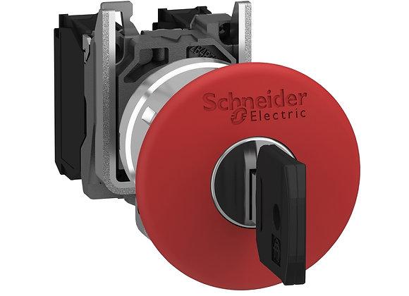 Schneider XB4BS9442 Emergency stop  latching key release