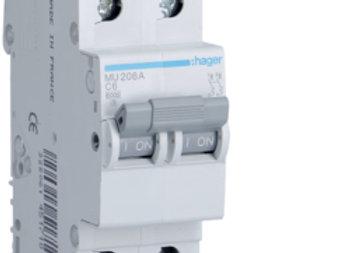 Hager MCB 2pole 6kA