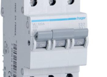 Hager MCB 3pole 6kA