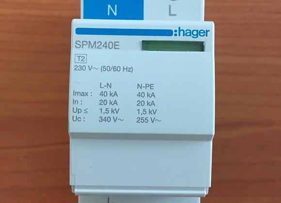 Hager SPD 40kA single phase Surge Arrestor