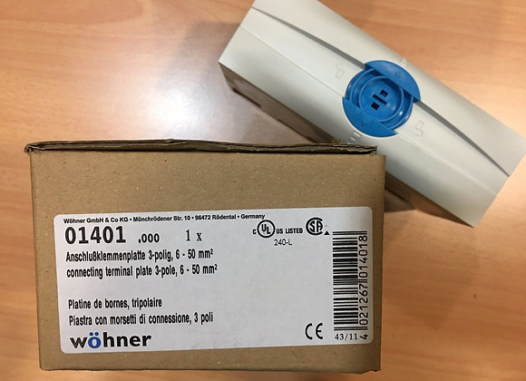Wohner 01401 CONNECTION TERMINAL PLATE, 3 POLE