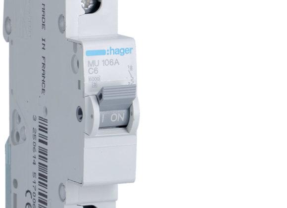 Hager MCB 1pole 6kA