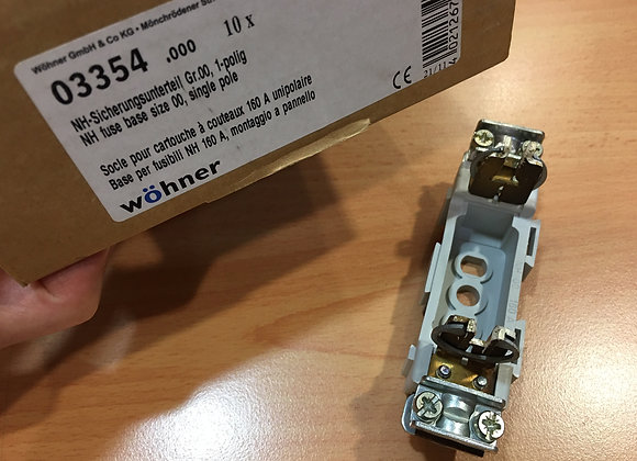 Wohner 03354 NH FUSE-BASE 160 A, PANEL MOUNTING