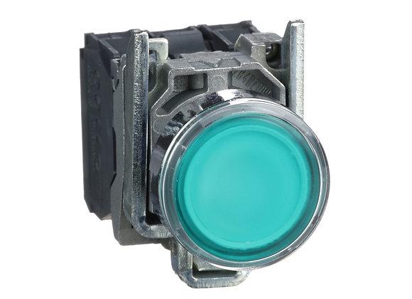 Schneider XB4BW33B5 Metal Illuminated push button -Green