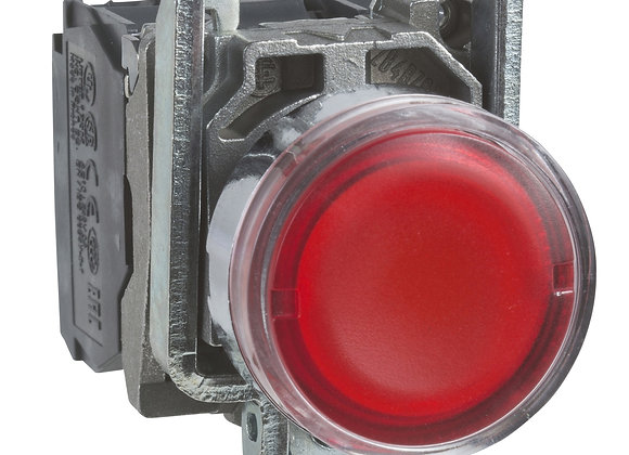 Schneider XB4BW34B5 Metal Red flush complete illum pushbutton