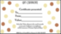 optical gift certificate image