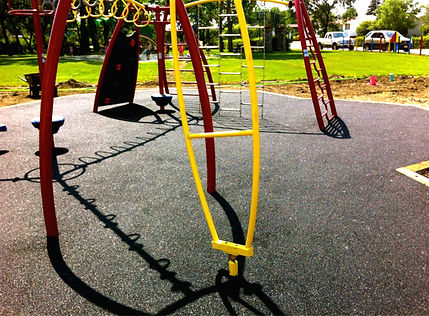 rubber playground resurfacing